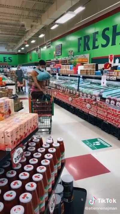 Anime girl chases runaway cart