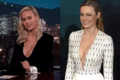 Brie Larson never misses a chance to show off her amazing clevage