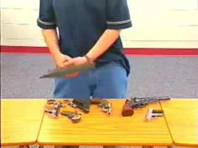 Stou'dent, master of concealed weaponry