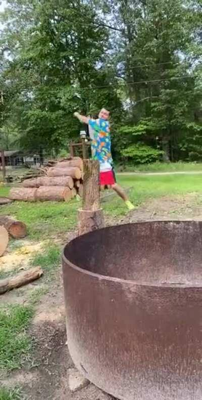 Chopping firewood, what could be easier?