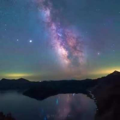 Static Time-lapse of the Milky Way, Demonstrates Earth's rotation through space