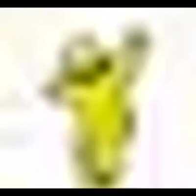 What a funny little yellow man, I sure hope he isn't turned into a religious cult