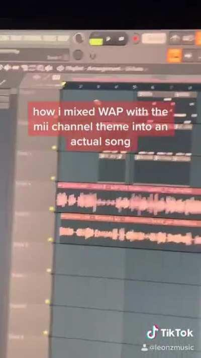 mixing the Mii Channel theme with Cardi B's WAP