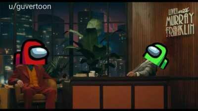 Meme de amongs com a cena do Joker (original)
