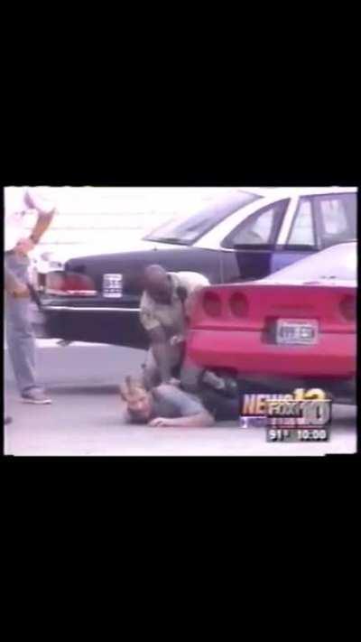 Arresting suspect