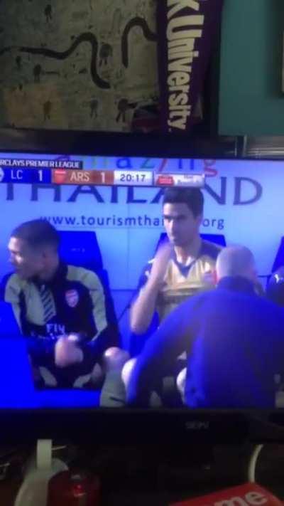 Arteta when City is dominating Arsenal's midfield