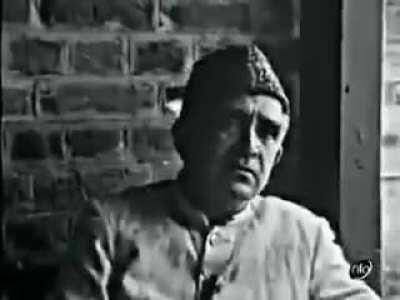 A foreign broadcaster, in 1965, speaking to Ghulam Mohiuddin Karra of Awami Action Committee about plebiscite and treatment of Kashmiris by the Indian state