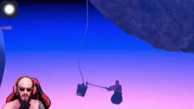 Pewdiepie playing getting over it a few years back.