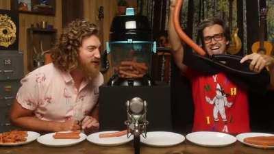 Rhett and Link put sausage in a vacuum