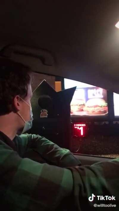 Perfectly cut drive through