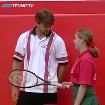 Heartwarming and funny tennis match