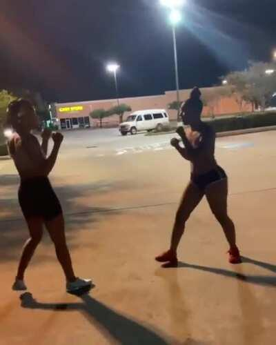 Odd strategy for a woman fighter