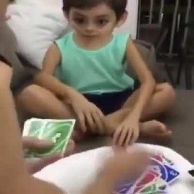 Does a kid losing at UNO count
