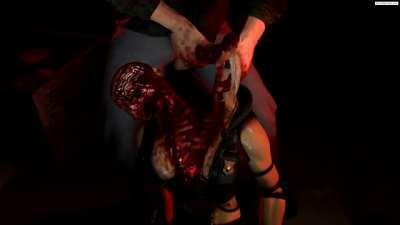 Sonya butchered and fucked like a pig