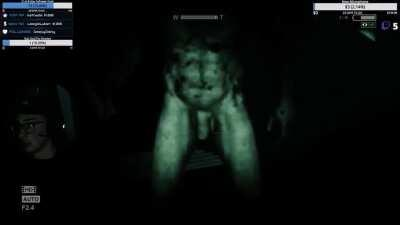 Getting a little distracted while playing Outlast...