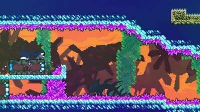 "Here's an ""interesting"" level from the Celeste 2020 Collab."