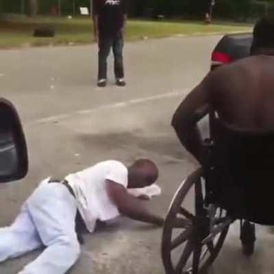 Beatdown by a wheelchair user