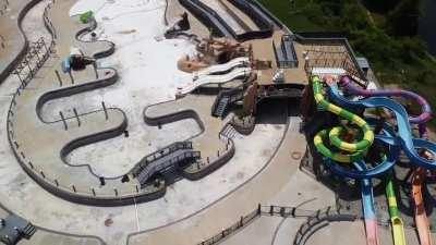 The water park at Lake Fairfax Park - June 14, 2020
