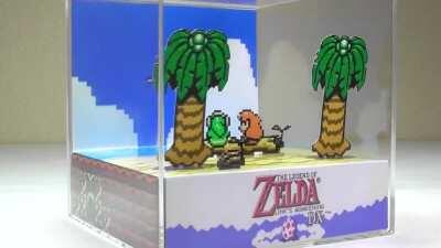 [LA] I made this Zelda: Link's Awakening diorama cube. What do you guys think?