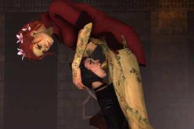 Futa Poison Ivy facefucking Catwoman [Batman]