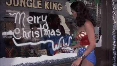 Merry Christmas 1977 from Wonder Woman