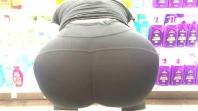 Wife's big ass in see through yoga pants with white thong.. what should she wear next?