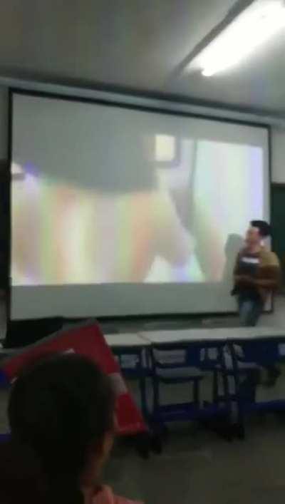 School teacher forgot to check his USB flash drive