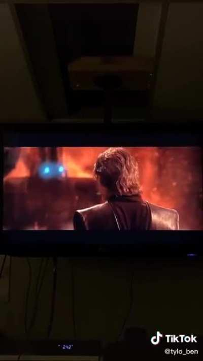 Watching ROTS with the boys