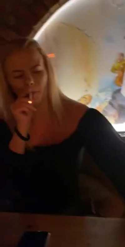 Lighting a cig the wrong way