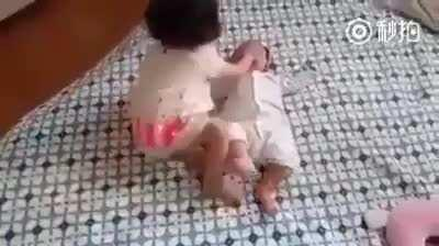 What a lovely way to deal with a baby.