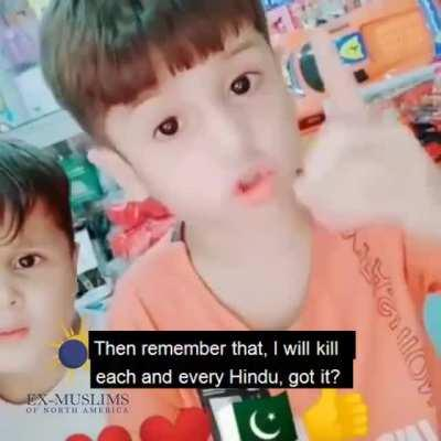 """I will kill all Hindus"": Pakistani kid displays bigotry in all glory over construction of temple in Islamabad. Watch video"