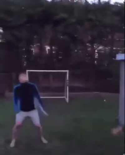 Showing how a goal is scored