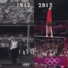 The difference between a present day Olympic gymnastics routine and one a hundred years ago