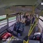 What happens when a bus comes to a hard stop