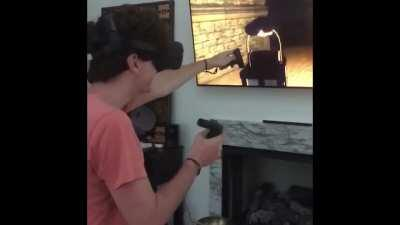 Played a scary VR game and regretted everything.