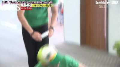 IU tricked by Park Ji Sung and Jae Suk - EP97