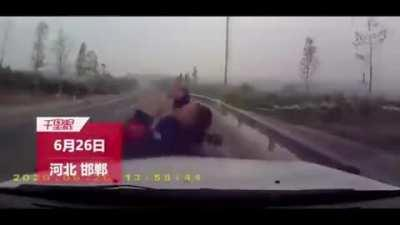 HMFT after I am ran over in China.