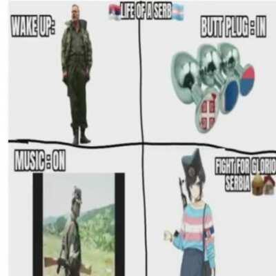 Salute da glorious modern Serb empire 😎😎🇷🇸🏳️⚧️💪