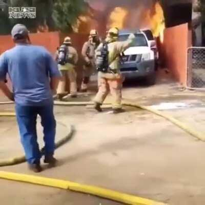 Man saves his dog from fire