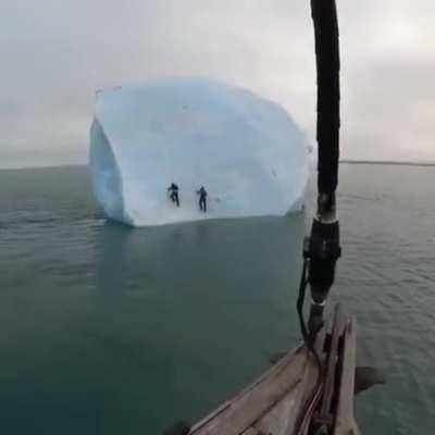 To climb an iceberg