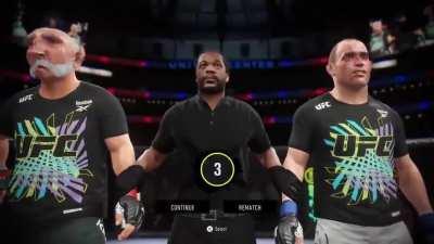 Youtuber Dathi De Nogla shows how well his UFC 4 career is going