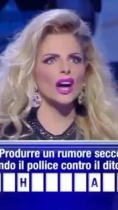 Italian television scream contest