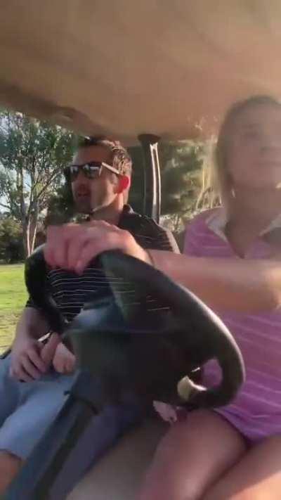 Gabbie golfing and fucking.