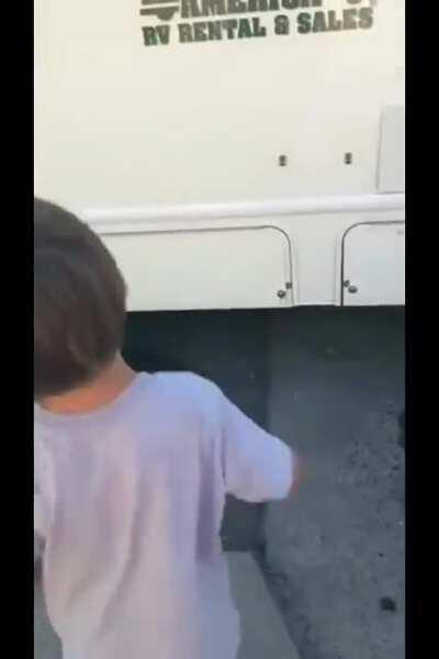 Gotta make sure the dump hose is properly attached (shamelessly edited from r/whatcouldgowrong)
