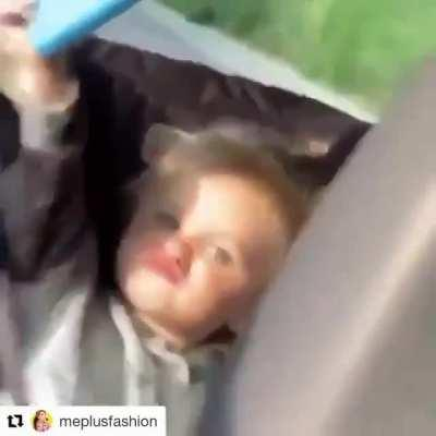 Baby taking a selfie