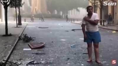 Explosion and aftermath in Beirut, Lebanon. At least 10 people are dead and many more are injured. The cause of this explosion is unknown