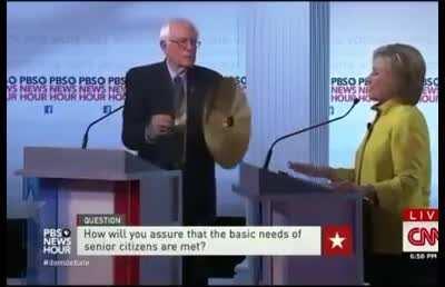 That time Bernie interrupted Hillary Clinton during debate