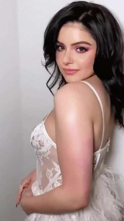 ariel with her breasts in white