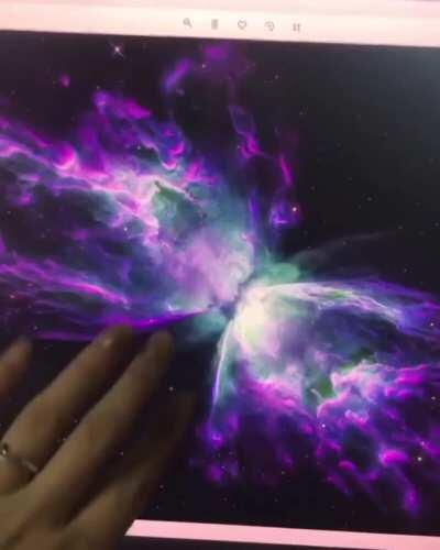 Cats Eye Nebula (oil and phosphorescent on canvas)