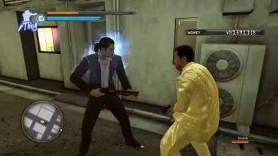 And then Majima pulled out his gun!
